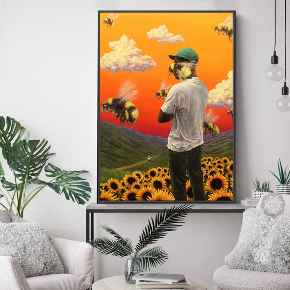 Hot Tyler the Creator Flower Boy Rap Music Hip Hop Album Star Poster Art Light Canvas Wall Printing Decor quadro cuadros image