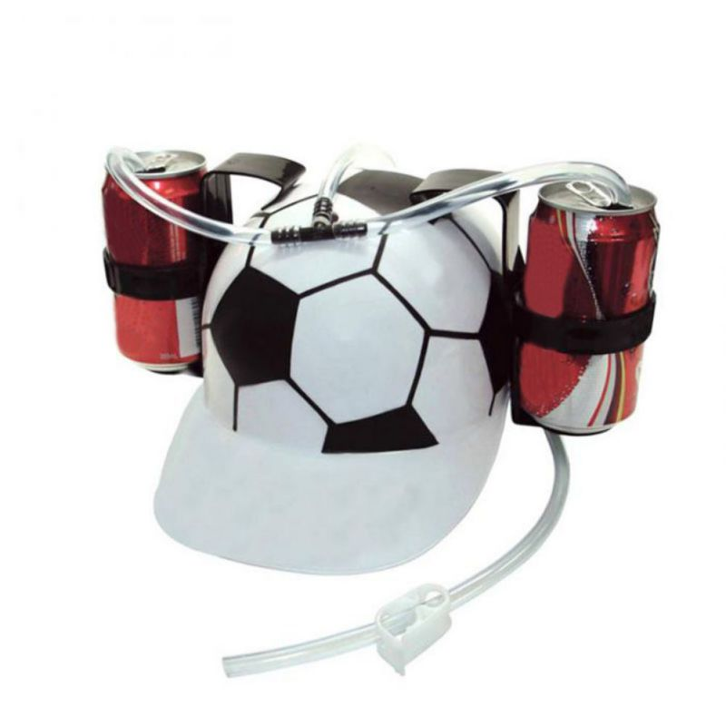 Beverage Holder Helmet Drinking Straws Plastic Handfree Beer Drinking Hat Lazy Helmet Party Favors For Kids Birthday Gifts