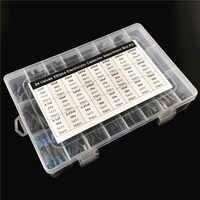 24 values 550pcs 16V/25V/35/50V (0.1uF to 2200uF) mix Electrolytic capacitor Assorted kit with storage box