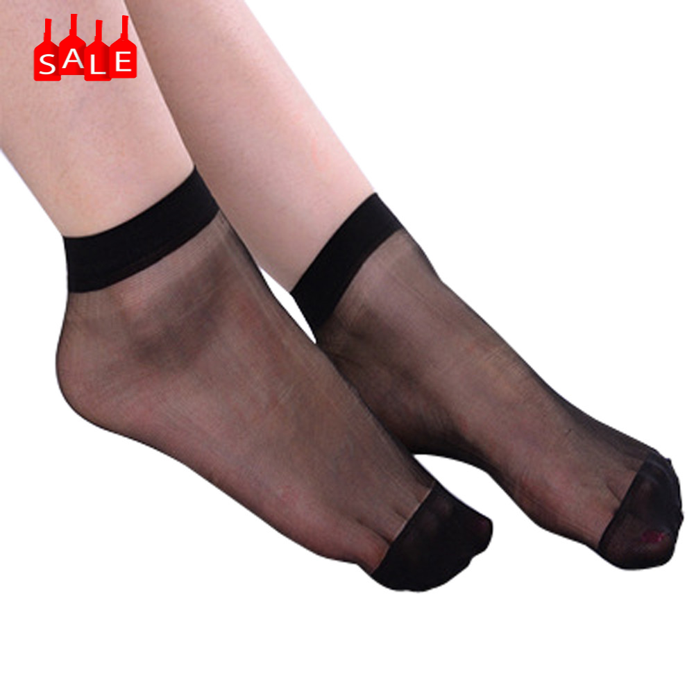 10 Pairs Women Ultra Thin Elastic Silk Girl Short Stockings Ankle Low medias sexy muslo Cut Socks Ladies fashion sokken #ZD