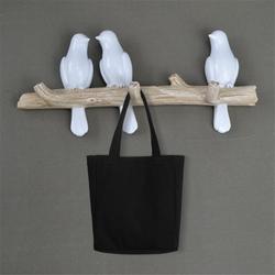 Aves de resina Estatueta Casaco Ganchos De Parede Decorativos Para Casa Acessórios de Decoração Saco Chave Bolsa Titular Rack de Cabide De Parede Para Roupas