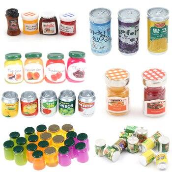 1/2/3/4/5pcs 1:12 Accessories Miniatures Dollhouse Jams Miniature Kitchen Doll House Kitchen DIY Dollhouse Food