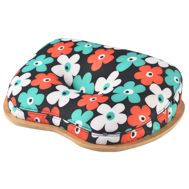 Laptop Table Multifunction Knee Lap Desk For 14 Inch Computer Phone Flip Portable Outdoor Headrest Office Home Nap Pillow(Flower