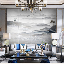 Современные и простые высококачественные обои из атмосферного камня, Настенные обои с пейзажем, фоновая стена для телевизора, гостиной