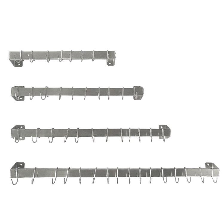 And 304 Stainless Steel Kitchen Single Pole Storage Shelf Kitchenware Supplies Storage Hanging Rod Stainless Steel Kitchen Shelf