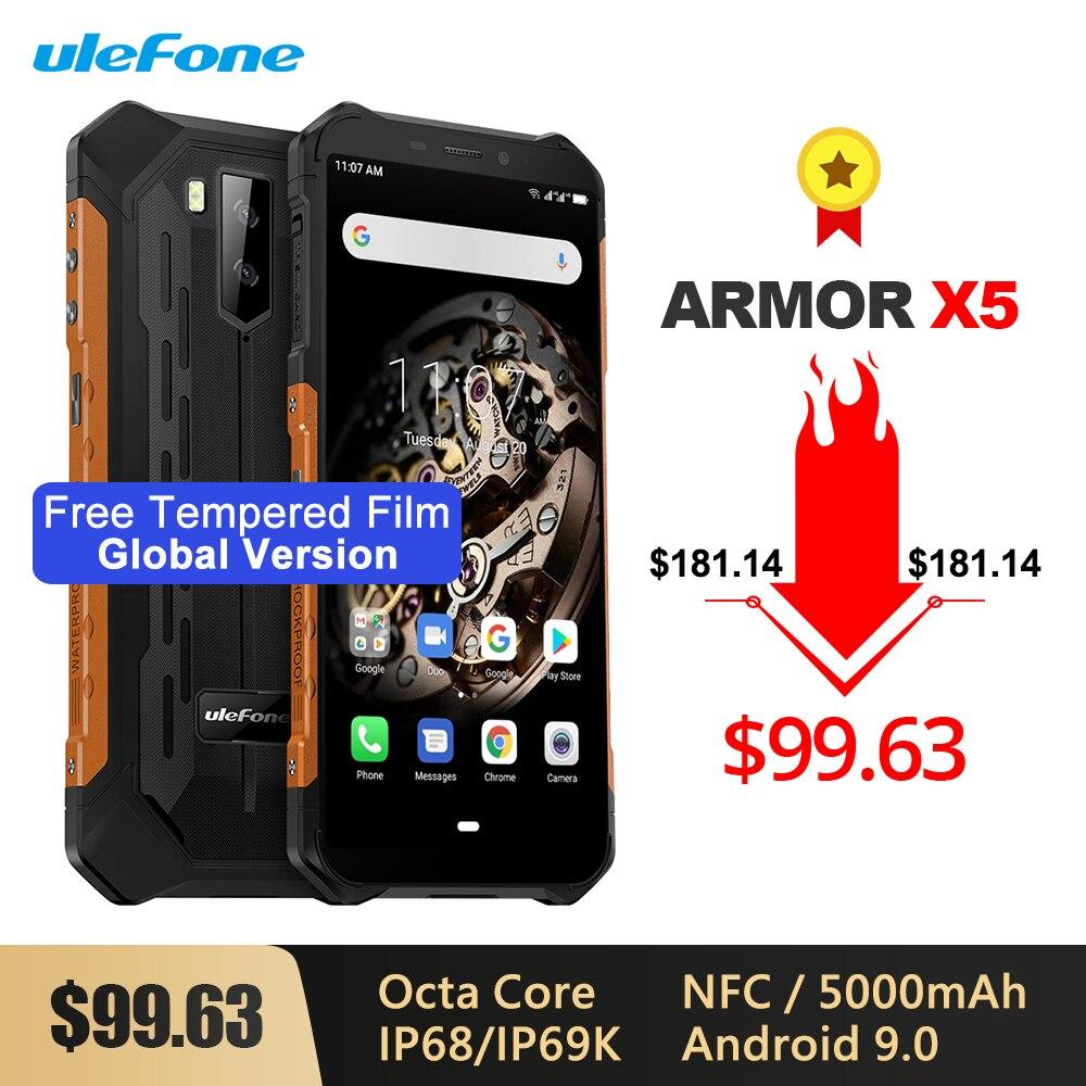 A armadura de ulefone x5 ip68/ip69k áspera à prova de choque smartphone 5000 mah octa núcleo 5.5 otandroid sim duplo android 9.0 otg nfc 3 gb 32 gb 4g lte on AliExpress - 11.11_Double 11_Singles' Day