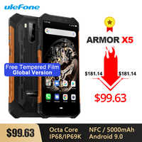 Ulefone Armor X5 IP68/IP69K Smartphone antichoc robuste 5000mAh Octa Core 5.5 ''double SIM Android 9.0 OTG NFC 3GB 32GB 4G LTE