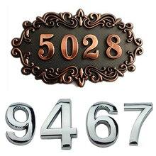 Sign Door-Label Number Numeral Address Hotel Home-Sticker Plastic Plating Plaque-House