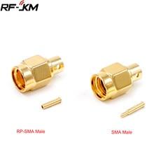 10 шт. SMA разъем RF RP-SMA двусторонний штекер Центральная пайка Полужесткий для RG402