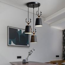 Nordic restaurant small chandelier single three-head simple modern dining room lamps household bedroom creative personality antl 2017 solid wood chandelier modern chinese japanese nordic creative minimalist living room dining three single head wooden lamp