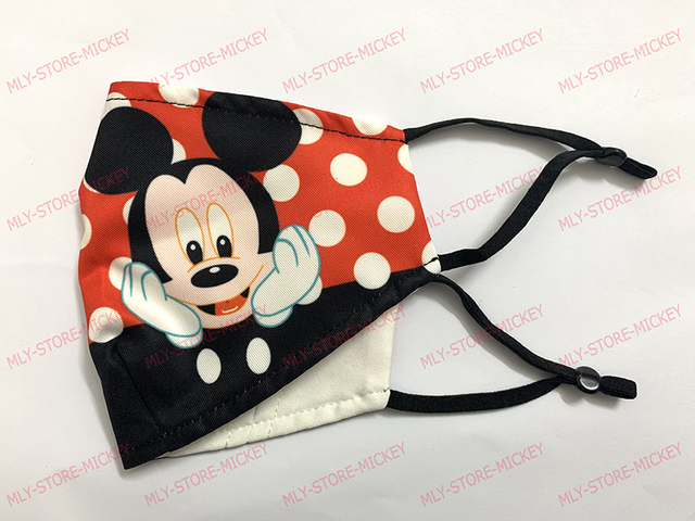 1pcs Cute Mouse Print Mask Kids Adult Washable Fabric Mask PM 2.5 Protective Reusable Dust Masks Cartoon Children Mouth-Muffle 4