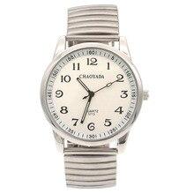 Высокое Качество Старый Для мужчин человек смотреть большое количество прозрачная настольная Нержавеющая сталь браслет для наручных часов Lover часы Для женщин человек леди SN79
