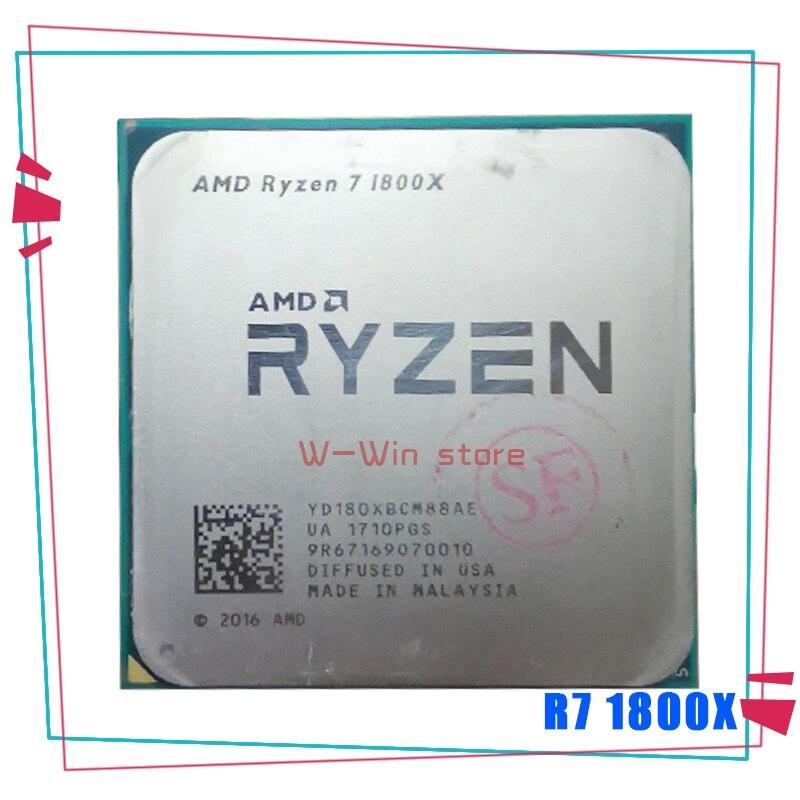 AMD Ryzen 7 1800X R7 1800X 3.6 GHz huit cœurs seize fils processeur dunité centrale L3 = 16M 95W YD180XBCM88AE Socket AM4