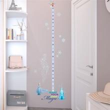 disney frozen princess height measure wall stickers for kids rooms home decor cartoon growth chart decals pvc mural art