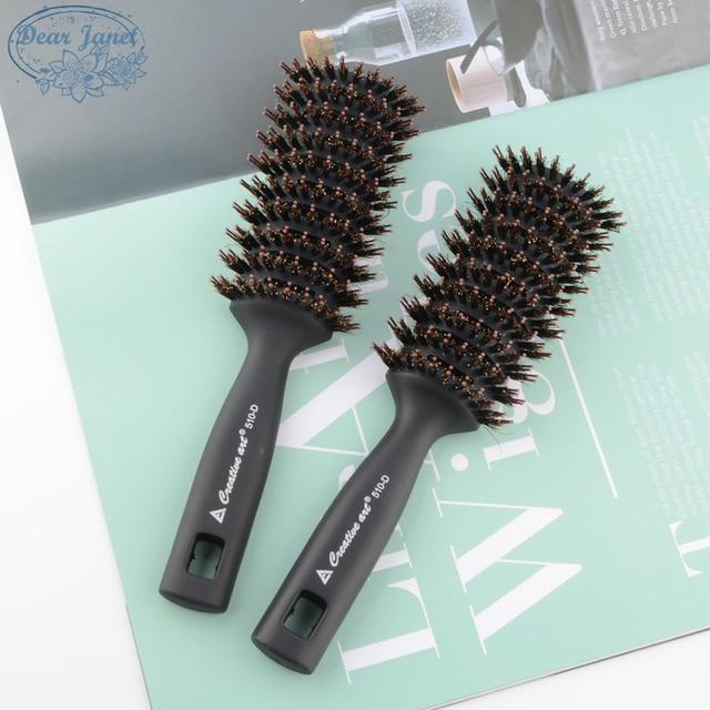 1pc Black Detangling Hair Brush Handle bristle Comb pompadour men styling Shower Massage scalp Comb Salon Hairdressing