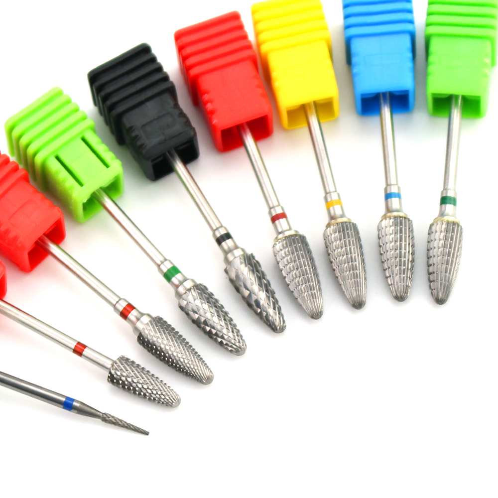 1pcs Carbide Nail Drill Bit Milling Cutter Electric Rotary Burr Manicure Machine Accessoies Nail Art Equipment Tools