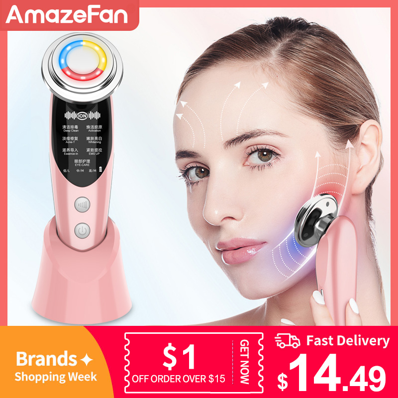 7in1RF&EMS Radio Mesotherapy Electroporation rf lifting Beauty LED Photon Face Skin Rejuvenation Remover Wrinkle Radio Frequency 1