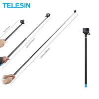 TELESIN 106 Selfie Stick Extendable Handheld Monopod for GoPro Hero 8 7 6 5 for Xiaomi YI 4K for DJI Osmo Action Insta360