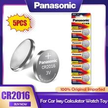 5 PÇS/LOTE Panasonic CR2016 3V CR Bateria de Lítio 2016 DL2016 LM2016 KCR2016 ECR2016 GPCR Para O Relógio de Brinquedo Chave Do Carro Botão de Célula tipo Moeda
