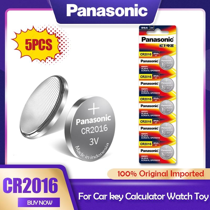 Литиевая батарея Panasonic CR2016 3 в, 5 шт./лот, CR 2016 DL2016 LM2016 KCR2016 ECR2016 GPCR для часов, игрушечного автомобиля, кнопочный элемент, монета|Часовые батарейки|   | АлиЭкспресс