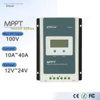 MPPT EPever Solar Charge Controller 40A 30A 20A 10A Tracer AN Series Back light LCD Regulator for Lead acid Lithium ion Battery