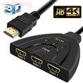 4 K * 2 K 3D Мини 3 порта прерыватель HDMI 1.4b 4 K разделитель HDMI 1080 P 3 en 1 порт концентратор для DVD HDTV Xbox PS3 PS4