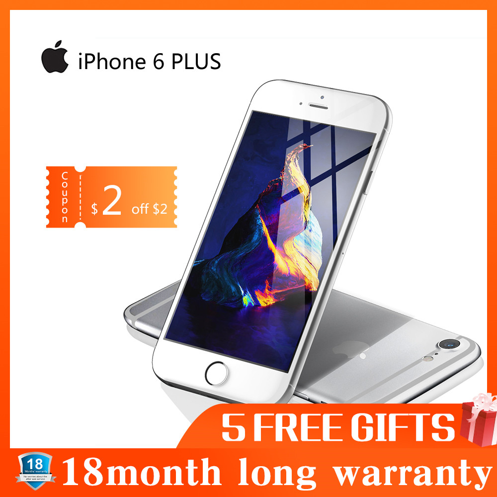 Б/у телефон Apple iphone 6 PLUS смартфон 16 Гб/64 Гб/128 Гб ПЗУ 5,5 экран мобильный wifi gps 4G LTE Смартфон iphone 6 Plus