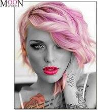 Алмазная 5d картина «сделай сам» с цветными волосами полноразмерная/круглая