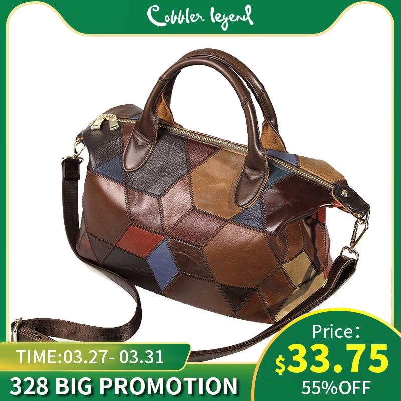 Cobbler Legend 2019 Genuine Leather Shoulder Bag For Women Luxury Handbag Crossbody Top-handle Bag Women Tote Bags Ladies Purse