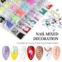 Mixed Color Shape AB Nail Art Rhinestones Decoration Flat Back Crystal Manicure Acrylic Geometry Stones Nails Jewelry Tools