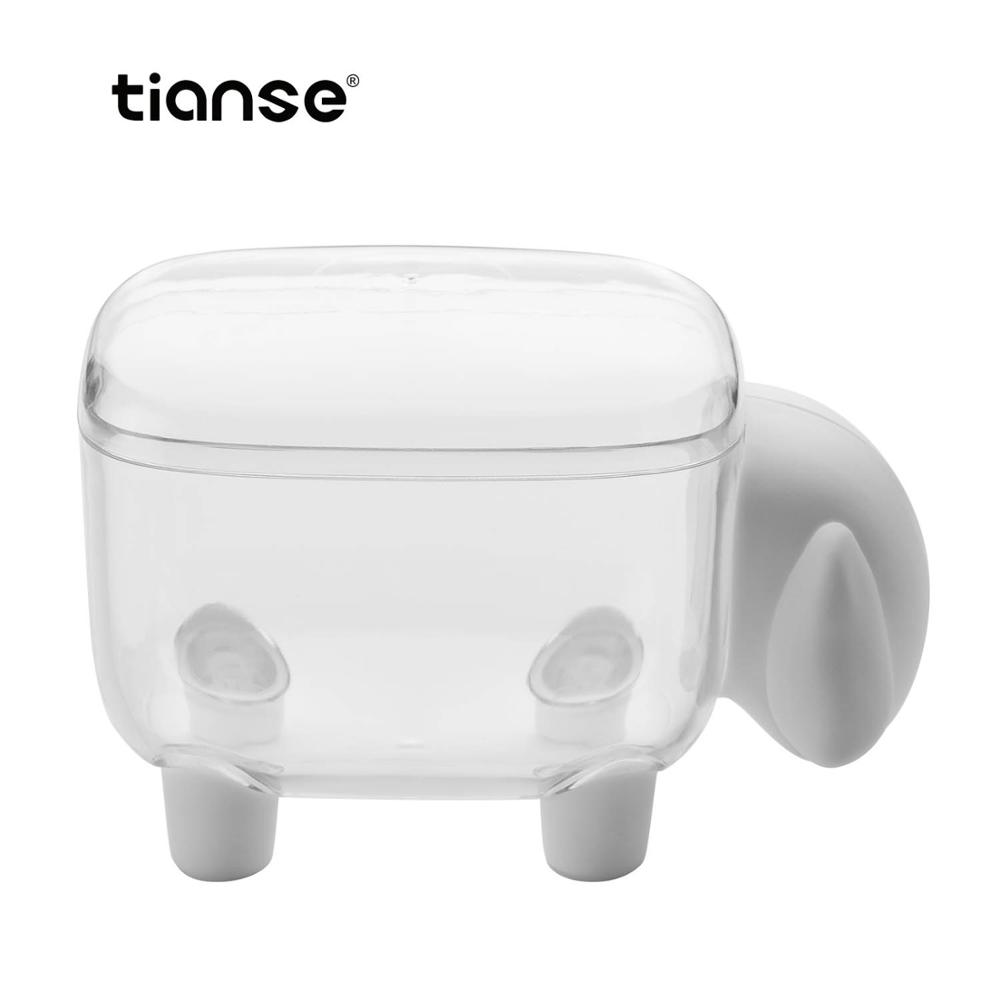 TIANSE Acrylic Paper Clip Holder Organizer Office Bookmark Organizer Desk Holder Storage Box Office And School Supplies