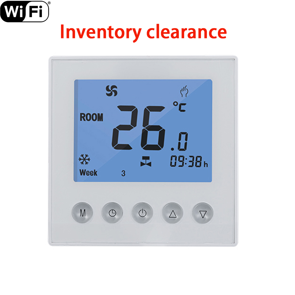 Smart Temperature Control Wifi Thermostat For Water/Electric Floor Heating LCD Timer Weekly Remote Control Via Mobile Phone