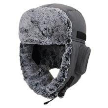 Connectyle yeni tıknaz sıcak Trapper şapka erkekler kadınlar için kış rusça şapkalar kalın peluş kaplı su geçirmez Ushanka avcılık kayak kap