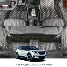 Car-Floor-Mat Internal-Accessories Auto-Foot-Pad Peugeot 2008 PU for Cover LHD Car-Styling