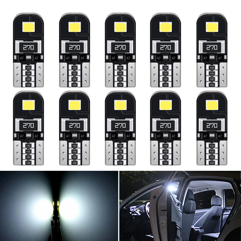 10pcs Canbus W5W <font><b>T10</b></font> <font><b>LED</b></font> <font><b>Bulb</b></font> <font><b>Car</b></font> Interior Lights For Hyundai i30 Tucson Solaris Elantra Santa Fe ix35 i20 i10 Accent Sonata image