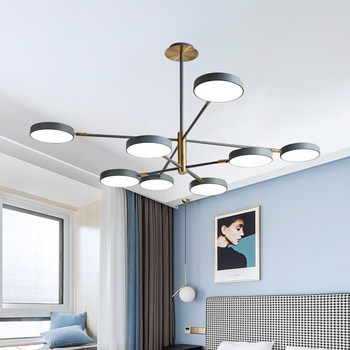 Nordic Modern Minimalist Chandelier LED Macaron Chandelier Metal Lampshades Chandelier for Living Room Bedroom Lighting Fixtures chandelier lighting restaurant minimalist living room bedroom creative american european retro chandelier iron lights chandelier