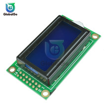 LCD Module Blue Yellow Screen IIC/I2C 0802 for arduino 8 x 2 Character Display 5V