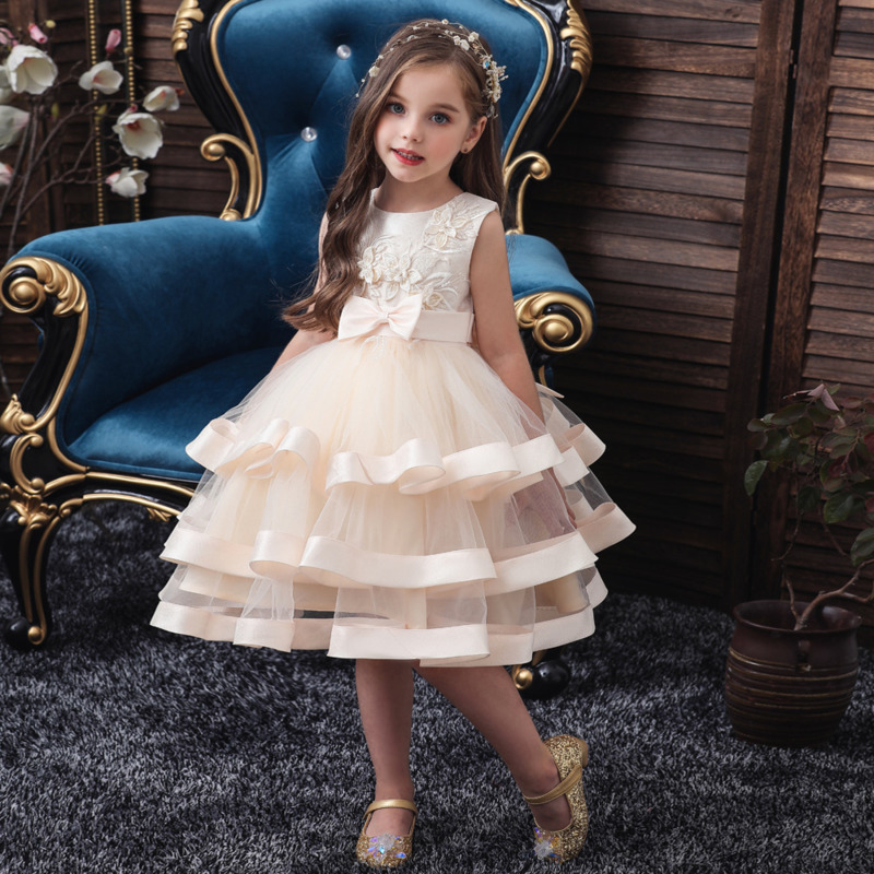 Summer Children Princess Dress For Girls Party Dresses Kids Pageant Ball Gown Flower Princess Dress Wedding Dresses Girls Robe