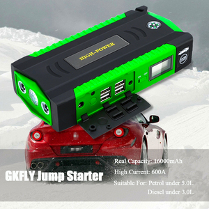 Image 2 - Gkflyハイパワー16000mah始動装置12 12v車ジャンプスターターポータブル電源銀行車のバッテリー充電器ガソリンディーゼルブースター