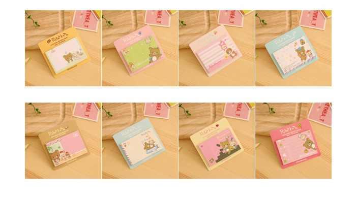60 Stks/partij Rilakkuma Papier Sticky Notes Decoratieve Post Plakboek Memo Pad Schoolbenodigdheden Briefpapier Papelaria DM648