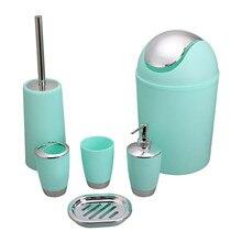 Soap-Box Bathroom-Accessories-Set Toothbrush-Holder Plastic CN Case 6-Piece