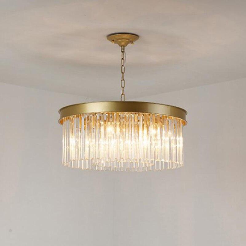 Rodada Luzes do candelabro de Cristal de Luz Pendurado LEVOU Luzes do candelabro de Cristal Da Lâmpada Sala de Jantar Sala de estar Retro