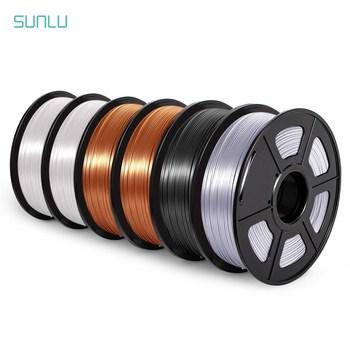 SUNLU SILK 6 rolek 3D Filament drukarki PLA 1 75mm 1KG metaliczny błyszczący jedwab 3D materiał do drukowania specjalna wyprzedaż czerwona miedź Filament tanie i dobre opinie CN (pochodzenie) solid SUNLU 1 75 SILK 3D Filament 6 rolls set 190-220℃ Eco-friendly bright color low shrinkage 3D Printer 3D Printing Pen