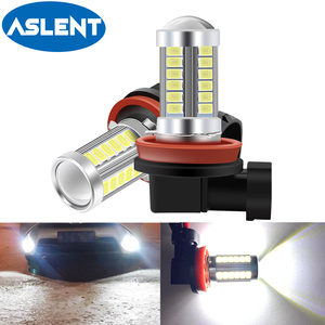 2Pcs H8 H11 LED Fog Lights Bulb 9005 HB3 9006 HB4 Led Lamp Auto Day Driving Super Bright 600LM 6000K White 12V Automobiles