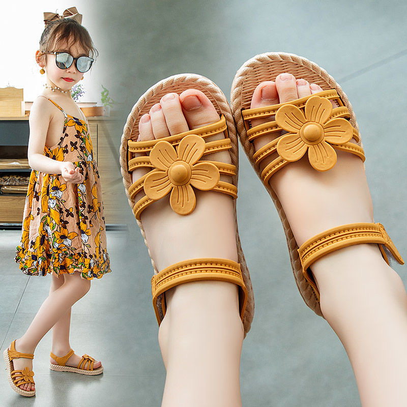Girls Sandals 2020 Summer New Children's Fashion Soft Bottom Princess Shoes Little Girl Baby Shoes Wild Style