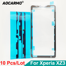 """Aocarmo 10Pcs/Lot Front LCD Display Waterproof Adhesive Back Door Battery Cover Sticker Glue For SONY Xperia XZ3 H9493 6.0"""""""