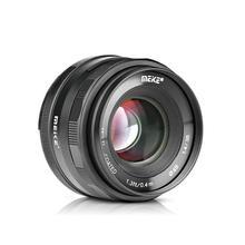 Meike 35mm f1.4 büyük diyafram manuel odak APS C lens için Sony NEX3/3N/5/5 T /5R/5N/NEX6/7/a5000/a5100/a6000/a6300 + hediye