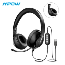 New arrival Mpow Over Headphone With Noise Cancelling Crystal Clear Microphone Foldable Headset AUX&USB Plug For PC/iPad