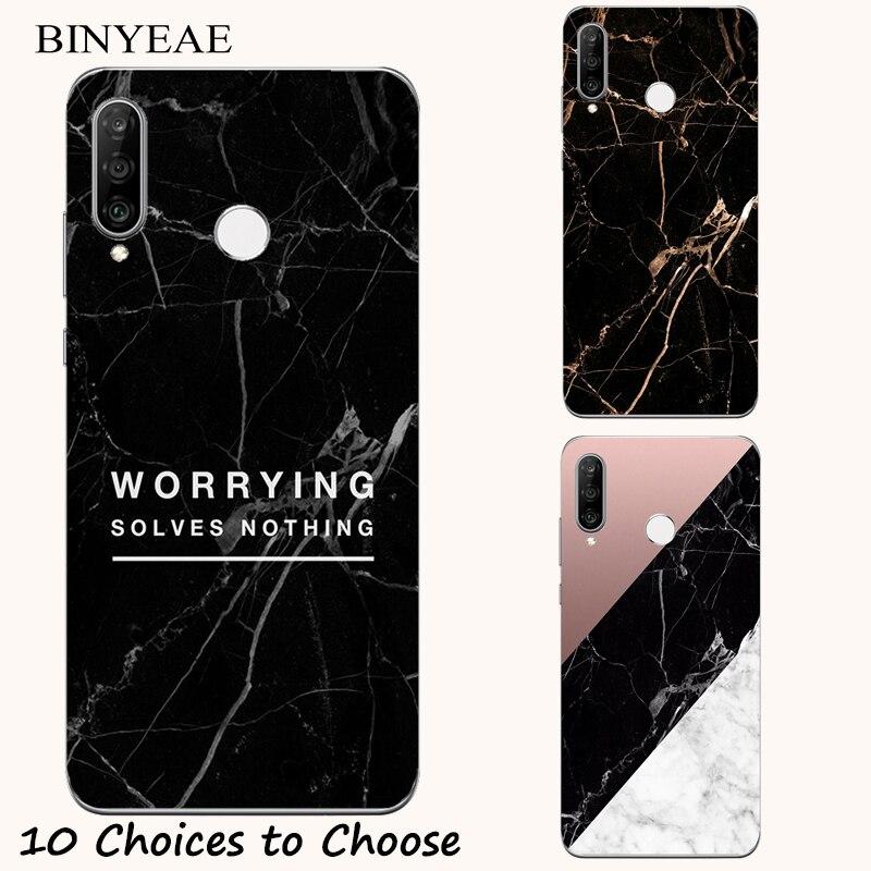 Black Marble stone soft Case For Lenovo S5 Z5 Z5s Z6 A5 K5 K5s K8 Plus lite Play Pro A6 Note K320t K350t ZUK 2 Edge Phone Cover