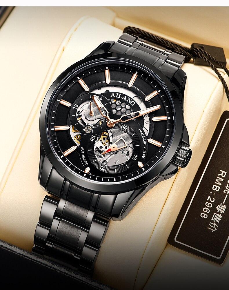 relógio topo marca luxo negócio automático luminoso